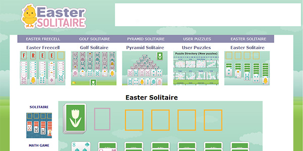 Easter Solitaire Screen Shot