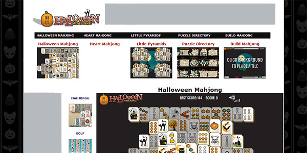Halloween Mahjong Screen Shot