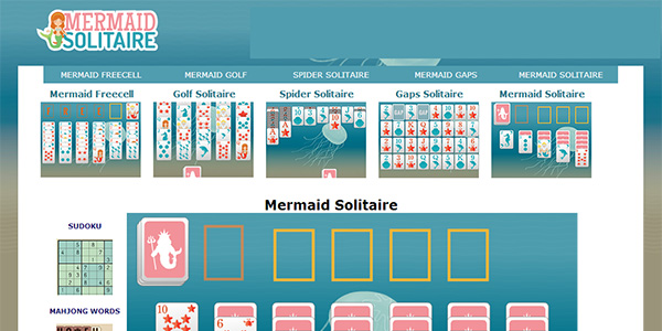 Mermaid Solitaire Screen Shot
