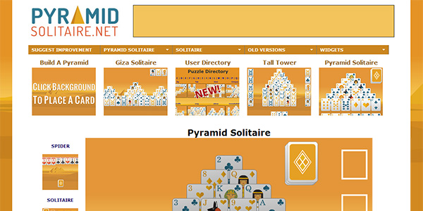 Pyramid Solitaire Screen Shot