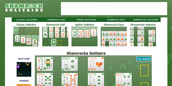 Shamrock Solitaire Screen Shot