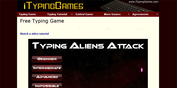 Typing Games Screen Shot