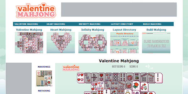 Valentine Mahjong Screen Shot