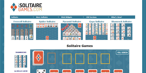Solitaire Games Screen Shot