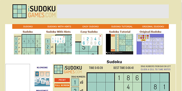 Christmas Sudoku Screen Shot